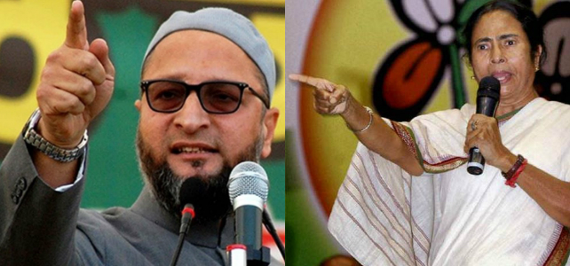 Asaduddin Owaisi and Mamta Banerjee