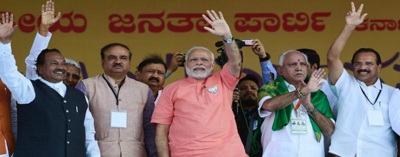 pm narendra modi bole karnataka me siddaramaiah nahi sedha rupya sarkar chal rahi hai