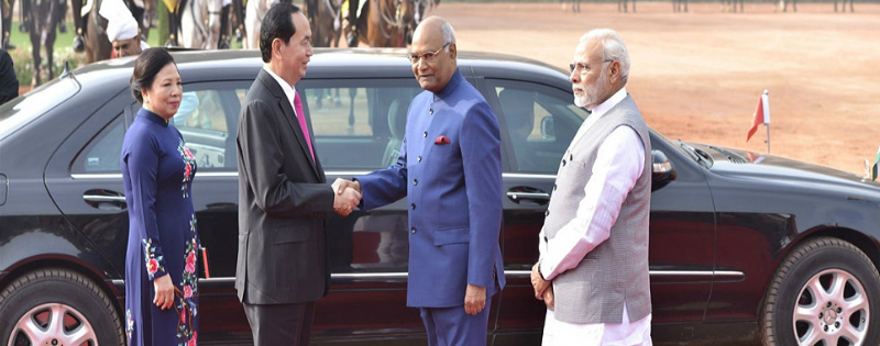 vietnam ke president quang ka delhi me swagat