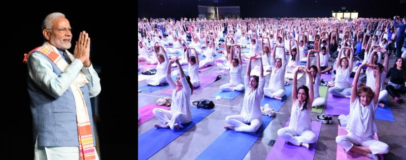pm modi ne kaha yoga bharat or argentina ke logo ko jod raha hai