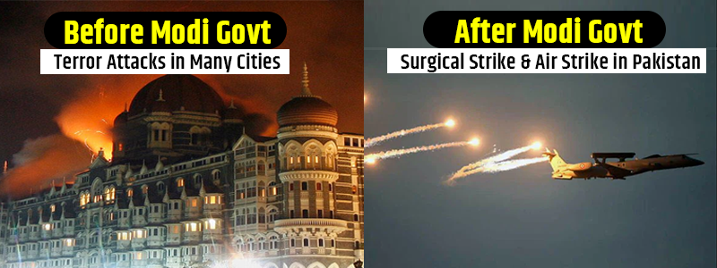 Remember that before Modi era when every now and then bomb blasts used to happen in the country